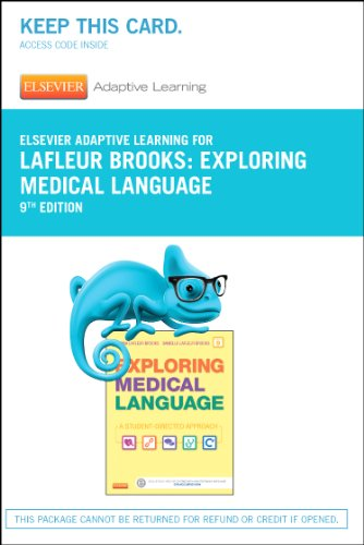 9780323289153: Elsevier Adaptive Learning for Exploring Medical Language (Access Card), 9e