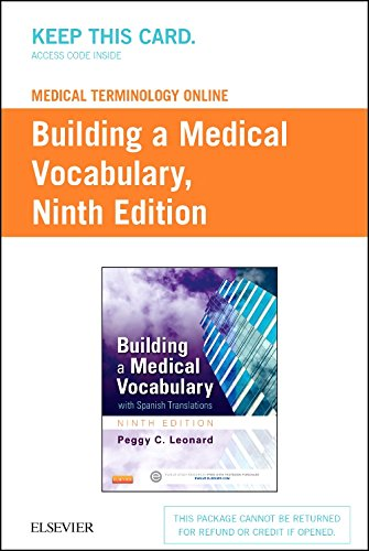 9780323289290: Medical Terminology Online for Building a Medical Vocabulary (Access Code), 9e