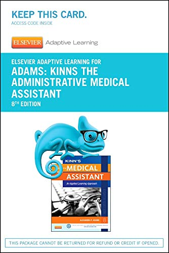 9780323289382: Elsevier Adaptive Learning for Kinn's The Administrative Medical Assistant (Access Card), 8e