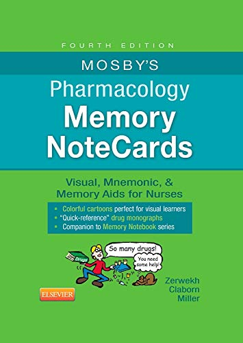 9780323289542: Mosby's Pharmacology Memory NoteCards: Visual, Mnemonic, and Memory Aids for Nurses, 4e