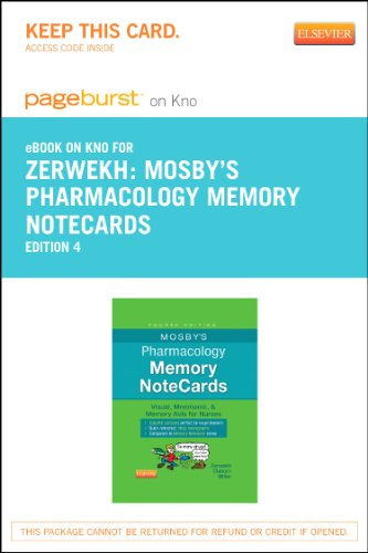 9780323290524: Mosby's Pharmacology Memory NoteCards - Elsevier eBook on Intel Education Study (Retail Access Card): Visual, Mnemonic, and Memory Aids for Nurses, 4e