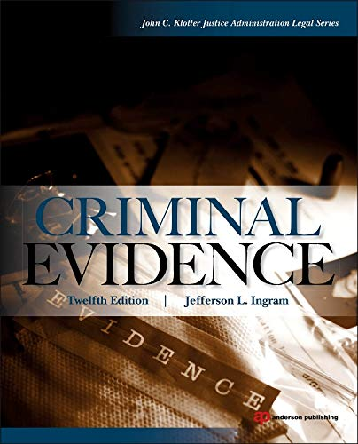 9780323294584: Criminal Evidence