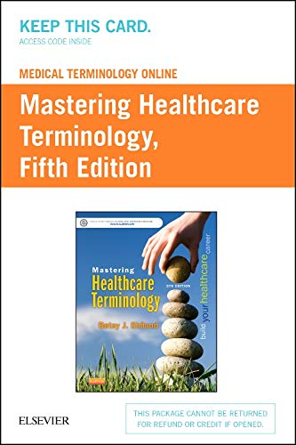 9780323298612: Medical Terminology Online for Mastering Healthcare Terminology (Retail Access Card)
