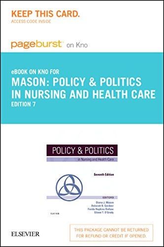 9780323299916: Policy & Politics in Nursing and Health Care - Elsevier eBook on Intel Education Study (Retail Access Card), 7e