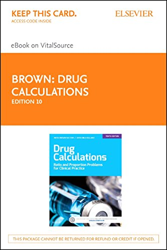 9780323316644: Drug Calculations - Elsevier eBook on VitalSource (Retail Access Card): Process and Problems for Clinical Practice, 10e