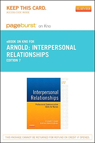 9780323328562: Interpersonal Relationships - Elsevier eBook on Intel Education Study (Retail Access Card): Professional Communication Skills for Nurses, 7e