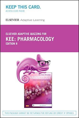 9780323352857: Elsevier Adaptive Quizzing for Pharmacology (Retail Access Card): A Patient-Centered Nursing Process Approach, 8e
