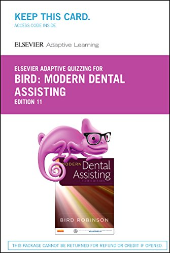 9780323353403: Elsevier Adaptive Quizzing for Modern Dental Assisting (Retail Access Card), 11e