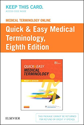 9780323370677: Medical Terminology Online with Elsevier Adaptive Learning for Quick & Easy Medical Terminology (Access Card), 8e