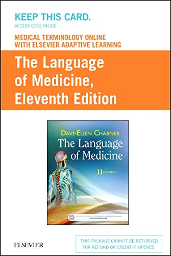 9780323370868: Medical Terminology Online with Elsevier Adaptive Learning for The Language of Medicine (Access Card), 11e