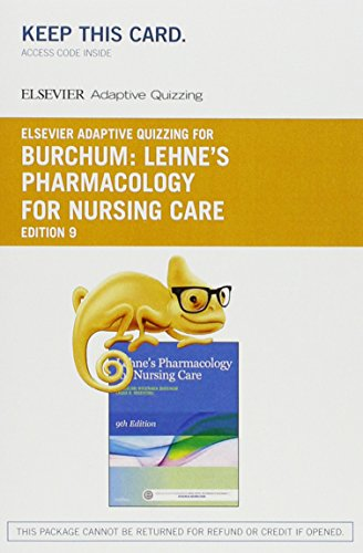 9780323396011: Elsevier Adaptive Quizzing for Lehne's Pharmacology for Nursing Care (Access Card), 9e