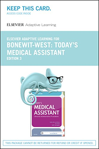 9780323401289: Elsevier Adaptive Learning for Today's Medical Assistant (Access Card), 3e