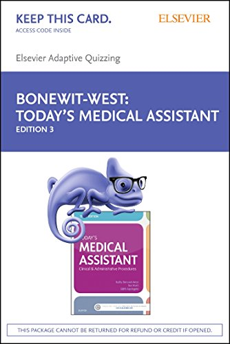9780323401418: Elsevier Adaptive Quizzing for Today's Medical Assistant (Access Card), 3e