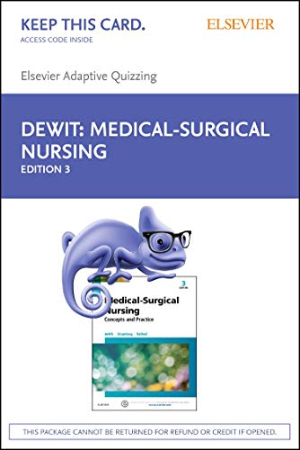 9780323429030: Elsevier Adaptive Quizzing for Medical-Surgical Nursing (Retail Access Card): Concepts & Practice, 3e