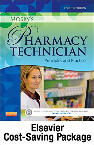 9780323429054: Mosby's Pharmacy Technician - Text and Elsevier Adaptive Quizzing Package, 4e
