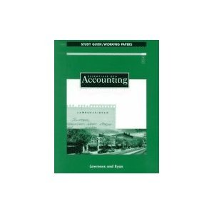 Essentials of Accounting: Study Guide/Working Papers: Michael D. Lawrence,