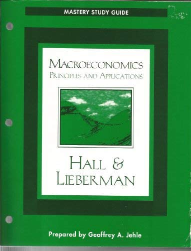 9780324003178: Mastery Study Guide for Macroeconomics