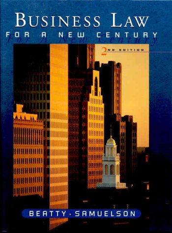 9780324003505: Business Law for a New Century