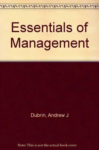 Essentials of Management: Andrew J. Dubrin