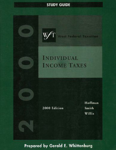 West Federal Individual Tax 2000: William H. Hoffman