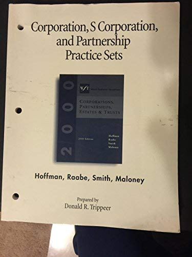9780324012736: Practice Sets WFT:Corporations: 2000