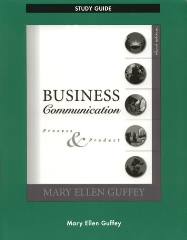 9780324013757: Business Communication: Process and Product