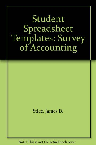 9780324015119: Student Spreadsheet Templates: Survey of Accounting