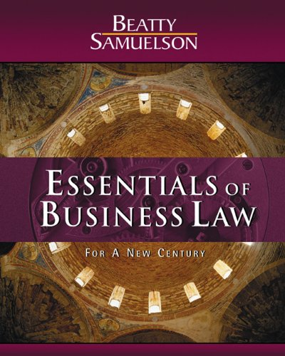 9780324016567: Essentials of Business Law for a New Century