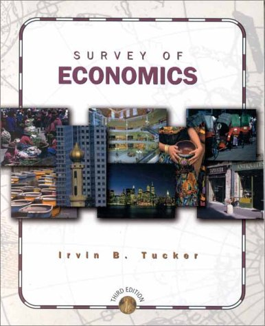 9780324019018: Survey of Economics (3rd, 01) by Tucker, Irvin B [Paperback (2000)]