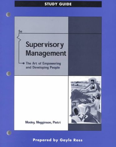 9780324021295: Supervisory Management: The Art of Empowering and Developing People, Study Guide (5th Edition)