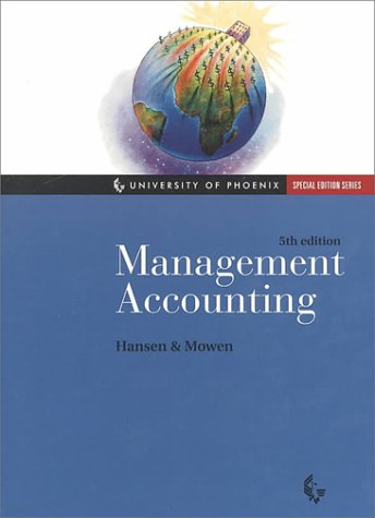 MANAGEMENT ACCOUNTING: DON R. HANSEN