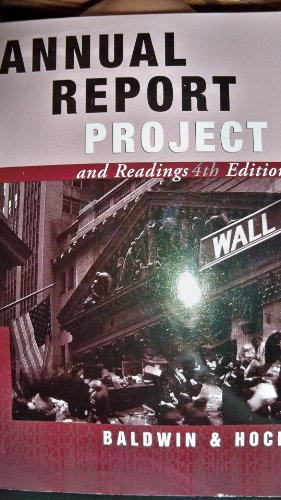 Annual Report Project and Readings : Financial: Ingram, Baldwin, Dave