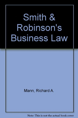 9780324030167: Smith & Robinson's Business Law