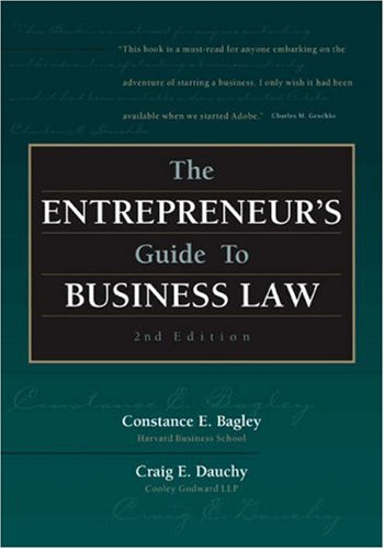 9780324042917: The Entrepreneur's Guide to Business Law