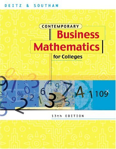 9780324042993: Contemporary Business Math for Colleges