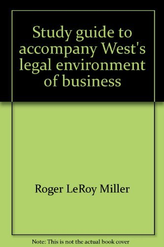 9780324052794: Study Guide and Test Preparation for West's Legal Environment of Business