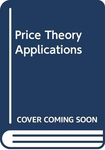 9780324059908: Study Guide to accompany Price Theory and Applications