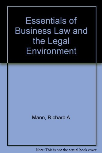 9780324061666: Essentials of Business Law and the Legal Environment (Study Guide)