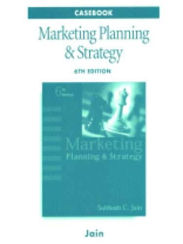 Marketing Planning and Strategy Case Book: Subhash C. Jain