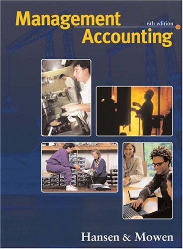 9780324069723: Management Accounting (with InfoTrac College Edition)