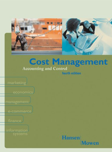 9780324069730: Cost Management: Accounting & Control
