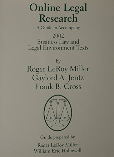 Online Legal Research a Guide to Accompa: Miller, Roger LeRoy
