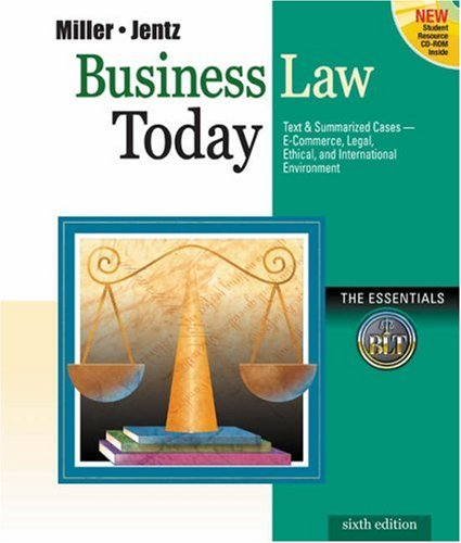 9780324120967: Business Law Today, The Essentials
