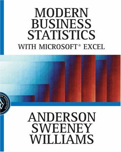 9780324121742: Modern Business Statistics with Microsoft Excel