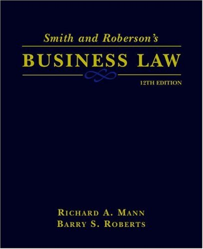 9780324121841: Smith and Roberson's Business Law (Smith & Roberson's Business Law)