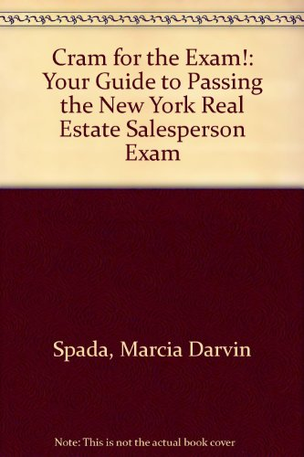 9780324139686: Cram for the Exam!: Your Guide to Passing the New York Real Estate Salesperson Exam