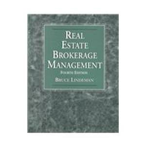 9780324140798: Real Estate Brokerage Management