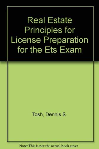 9780324141504: Real Estate Principles for License Preparation for the Ets Exam