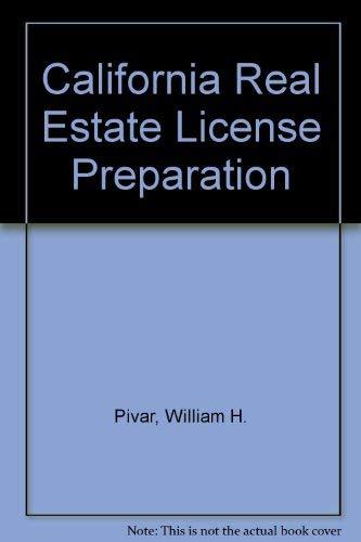 9780324142969: California Real Estate License Preparation