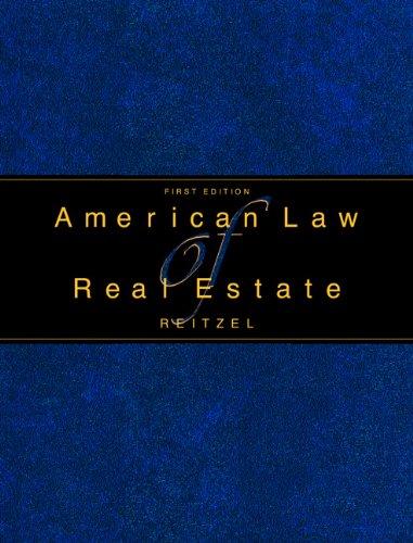 American Law of Real Estate: J. David Reitzel;